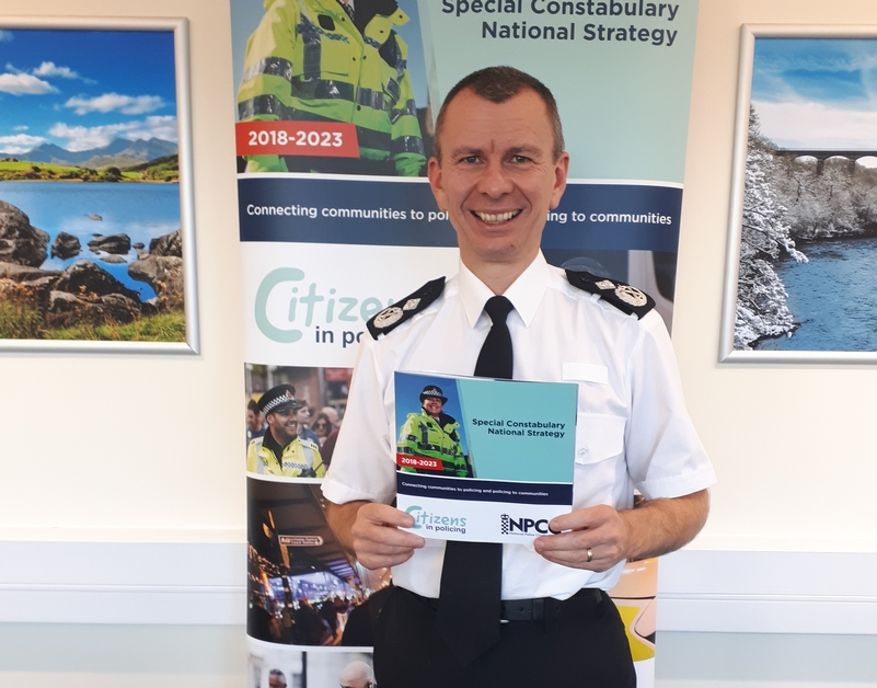 T/DCC Richard Debicki at the launch of the national special constabulary strategy