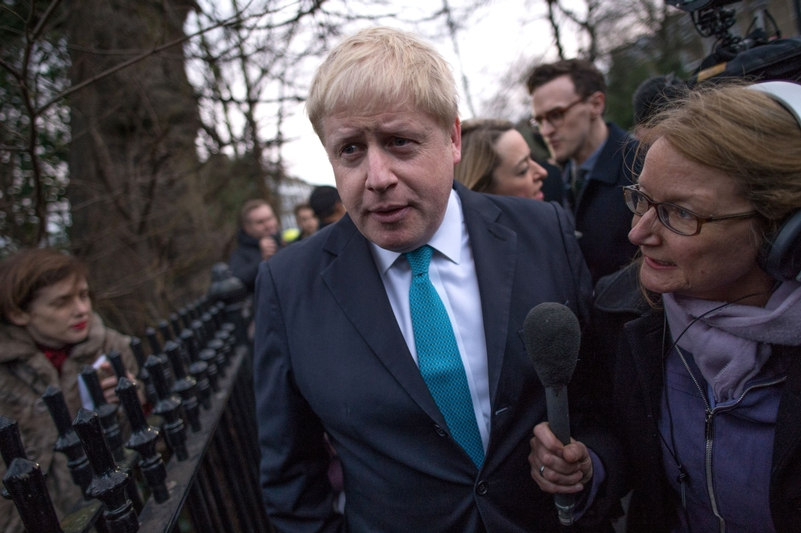 Boris Johnson announces he will campaign to leave the EU. PICTURE: Press Association