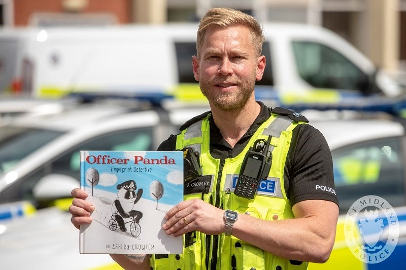 From China to the West Midlands: PC Ashley Crowley's has written a book about a police panda