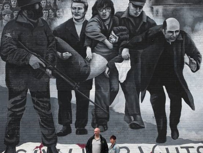 Legacy issues: A Bogside mural depicting the Troubles