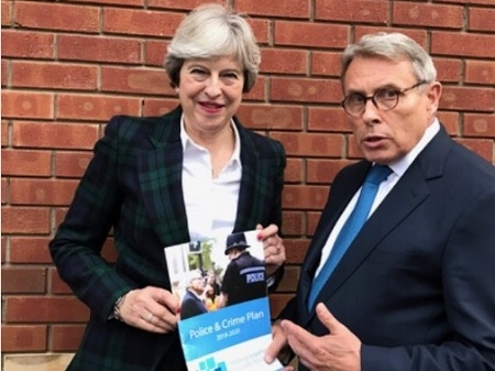 Lorne Green with Theresa May