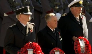 Tom Winsor represents police at Remembrance Sunday